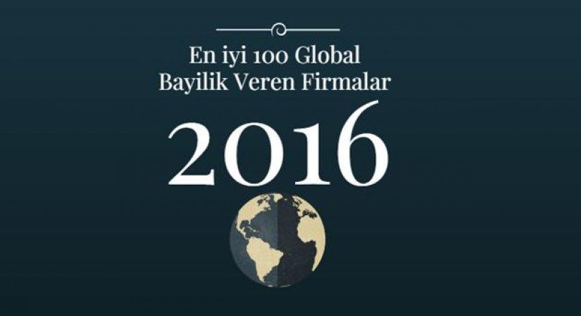2016 En iyi 100 Global Bayilik Veren Firmalar Listesi