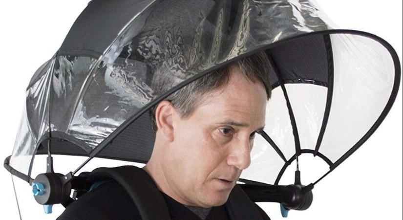 Giyilebilir Şemsiye İle Elleriniz Serbest