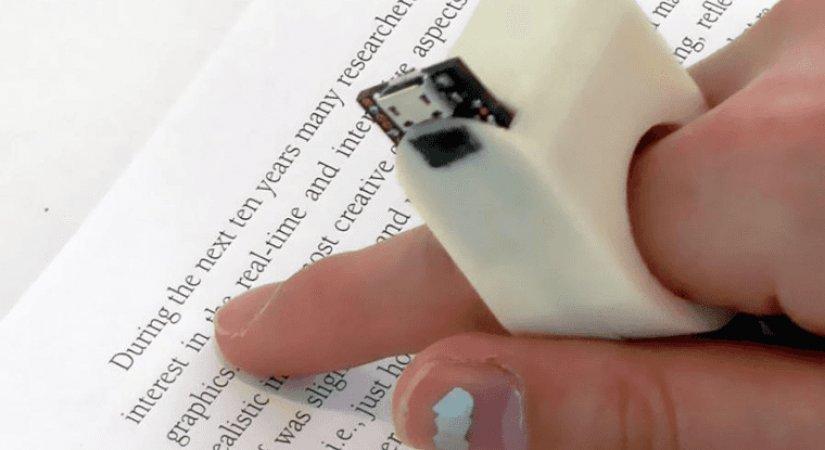 Görme Engelliler İçin Okuma Yüzüğü